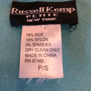 Russell Kemp Tops - Lt teal sequined knit tank